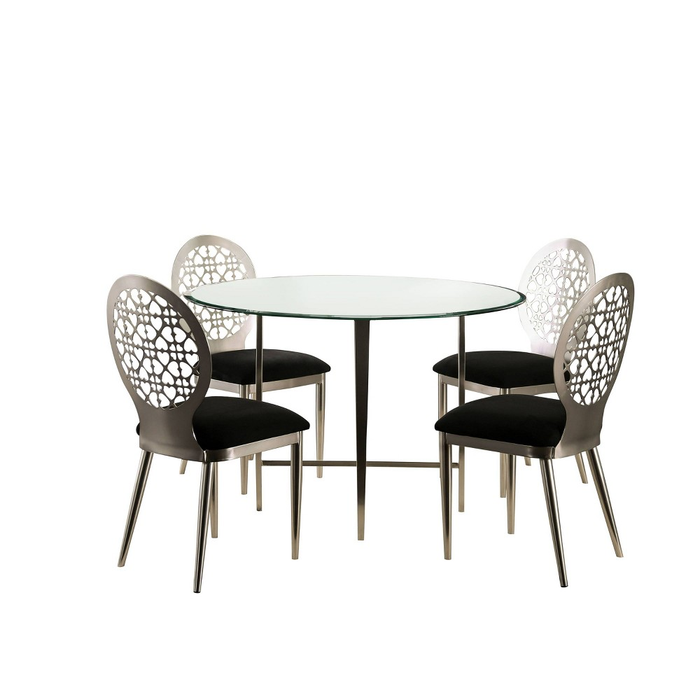 Compare 5pc Chalee Dining Set Silver - miBasics