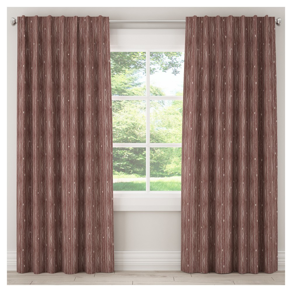 Unlined Shibori Stripe Blackout Curtain Panel Berry (Pink) (50