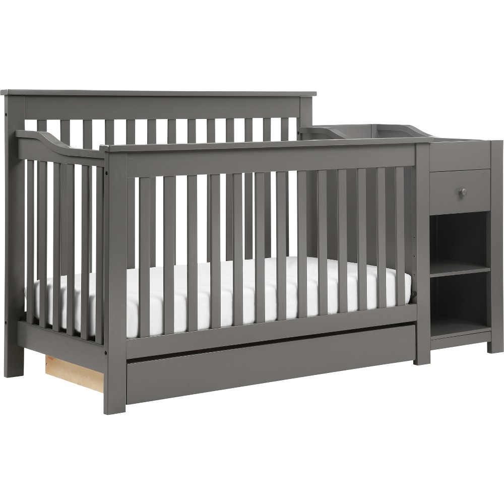 Image of DaVinci Piedmont 4-in-1 Crib and Changer Combo - Slate