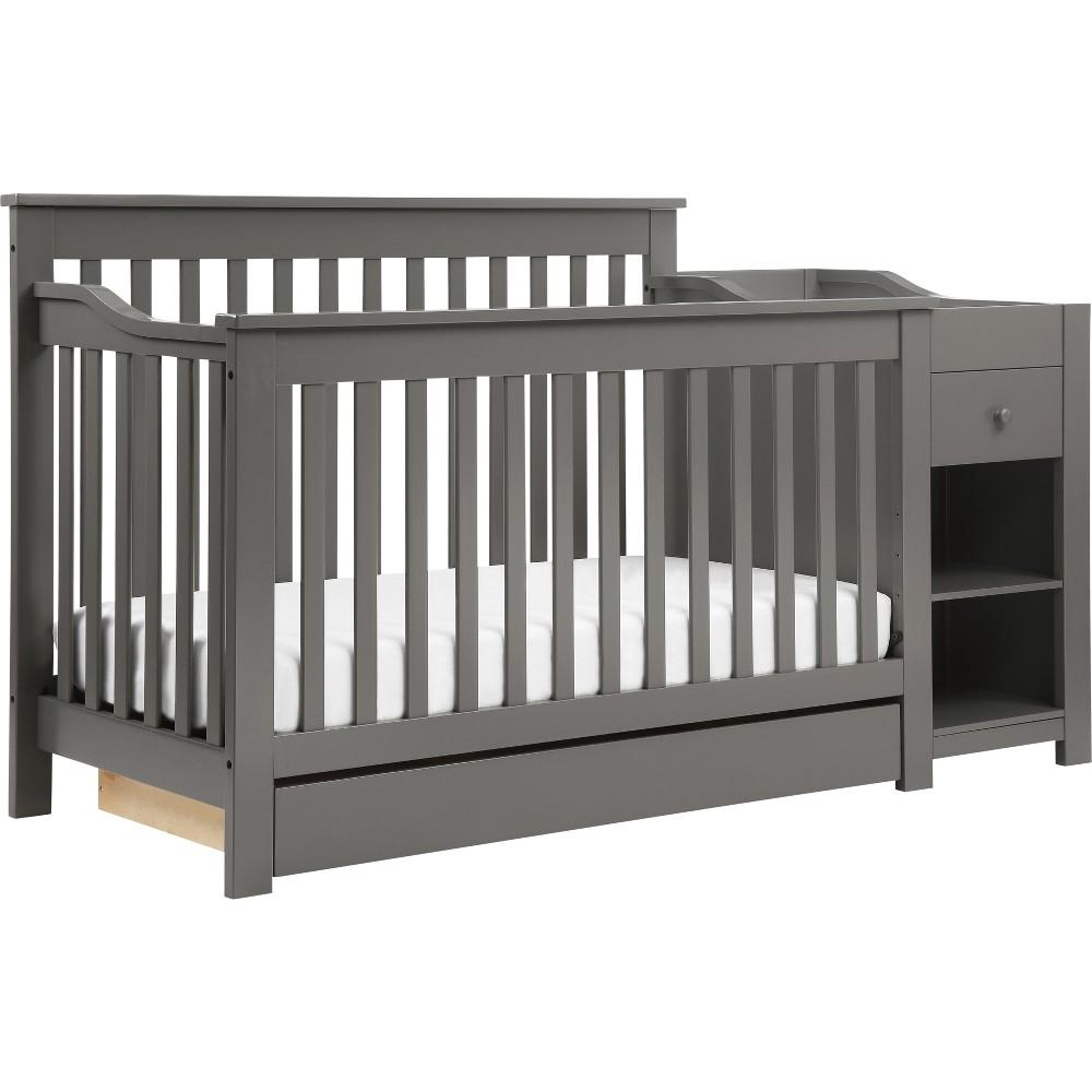 Image of DaVinci Piedmont 4-in-1 Crib and Changer Combo - Slate, Gray