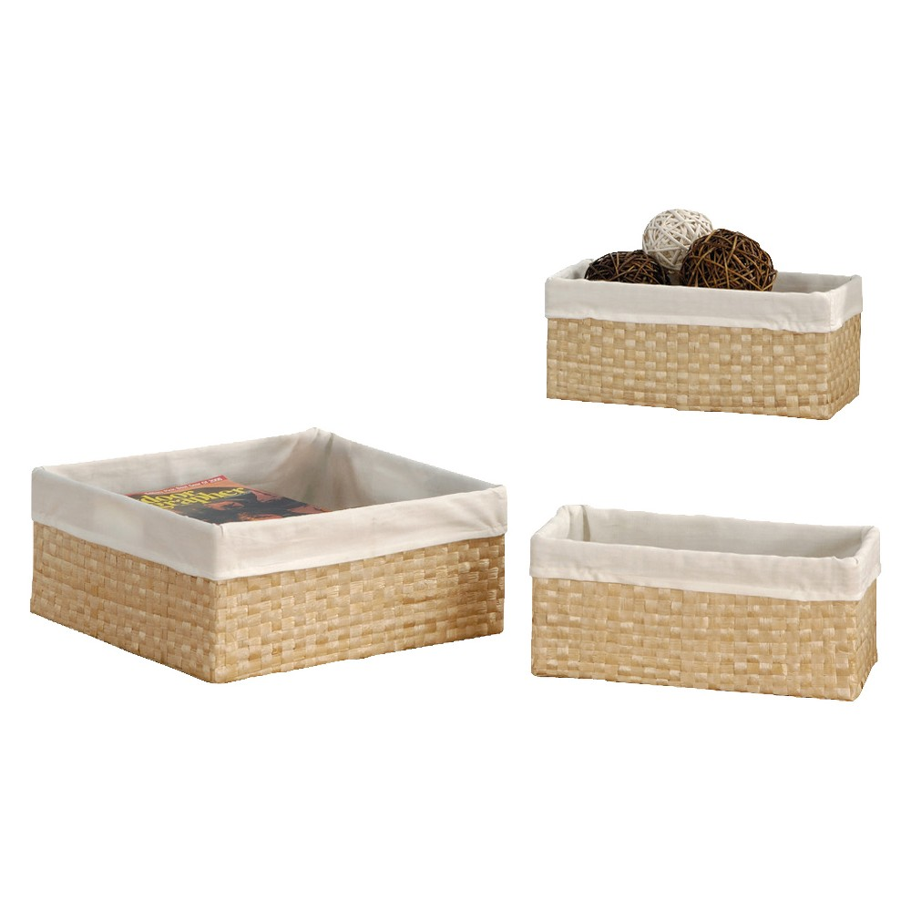 Image of Neu Home Decorative Basket With Liner Tan