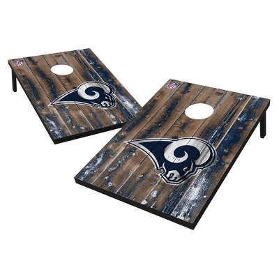 NFL Los Angeles Rams Wild Sports 2'x3' Barnwood Bean Bag Toss