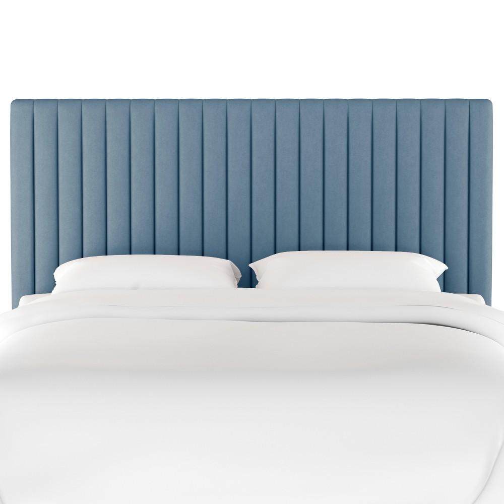 California King Channel Headboard Light Blue Velvet - Opalhouse