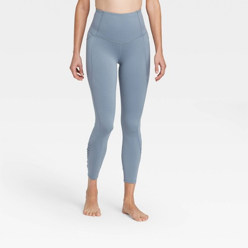 """Women's Contour Shirred Brushed Back High-Waisted 7/8 Leggings 25"""" - All in Motion™ - image 1 of 4"""