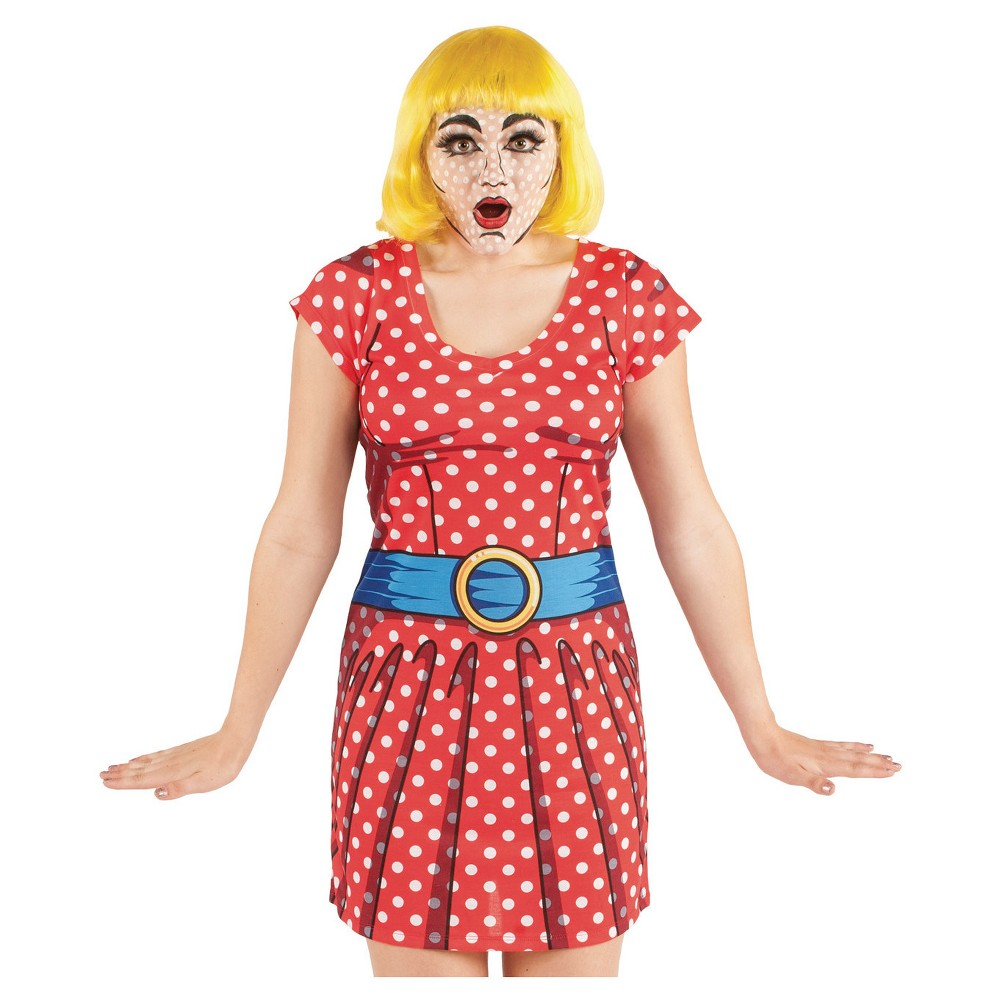 Image of Halloween Women's Comic Dress Costume X-Large, Size: XL, Red