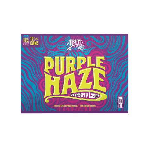 Abita Purple Haze Raspberry Lager Beer - 12pk/12 fl oz Cans - image 1 of 2