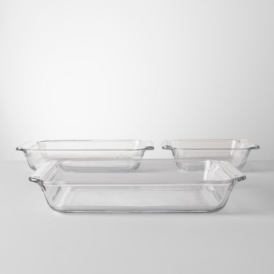3pc Glass Bakeware Set - Made By Design™