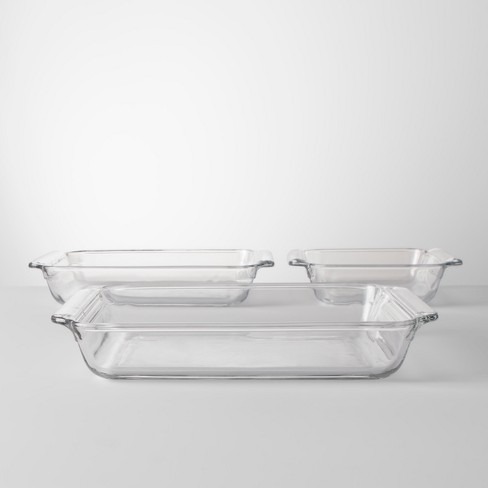 3pc Glass Bakeware Set - Made By Design™ - image 1 of 3