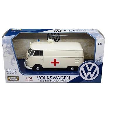 Volkswagen Type 2 (T1) Ambulance Cream 1/24 Diecast Model Car by Motormax