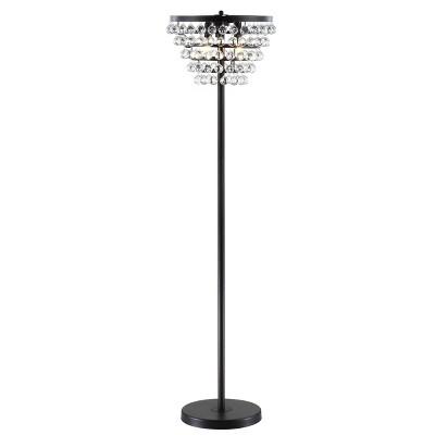"60"" Crystal/Metal Jemma Floor Lamp (Includes Energy Efficient Light Bulb) - JONATHAN Y"