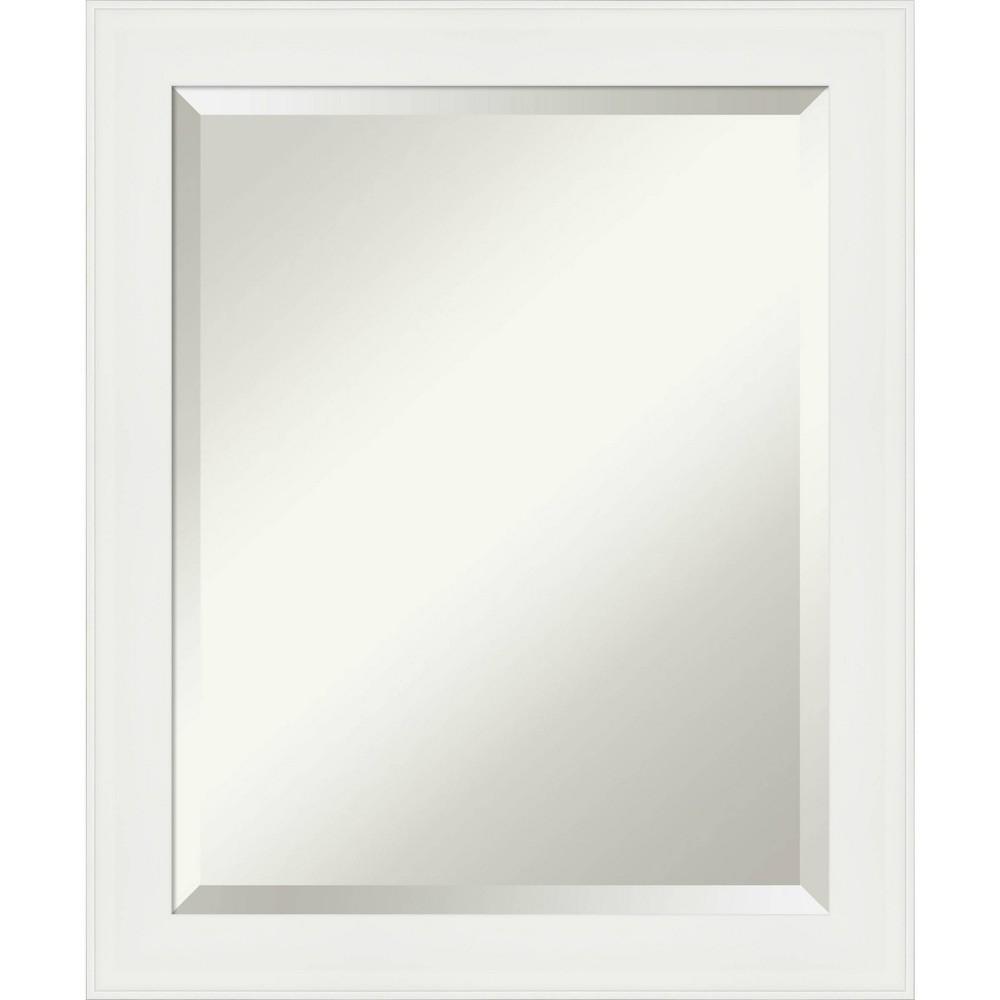 "Image of ""19"""" X 23"""" Narrow Framed Bathroom Wall Mirror Vanity White - Amanti Art"""