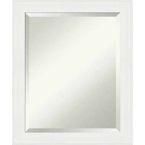 19 X 23 Narrow Framed Bathroom Wall Mirror Vanity White Amanti Art