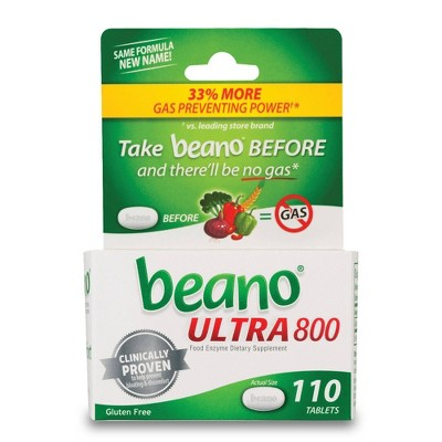 Beano Ultra 800 Gas Prevention and Digestive Enzyme Supplement - 110ct