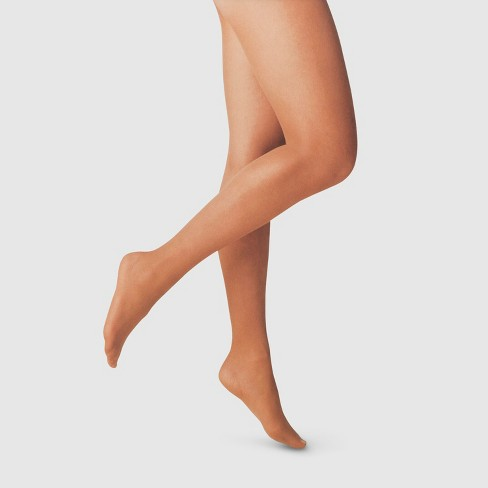 Women's 20D Sheer Tights - A New Day™ Caramel - image 1 of 2