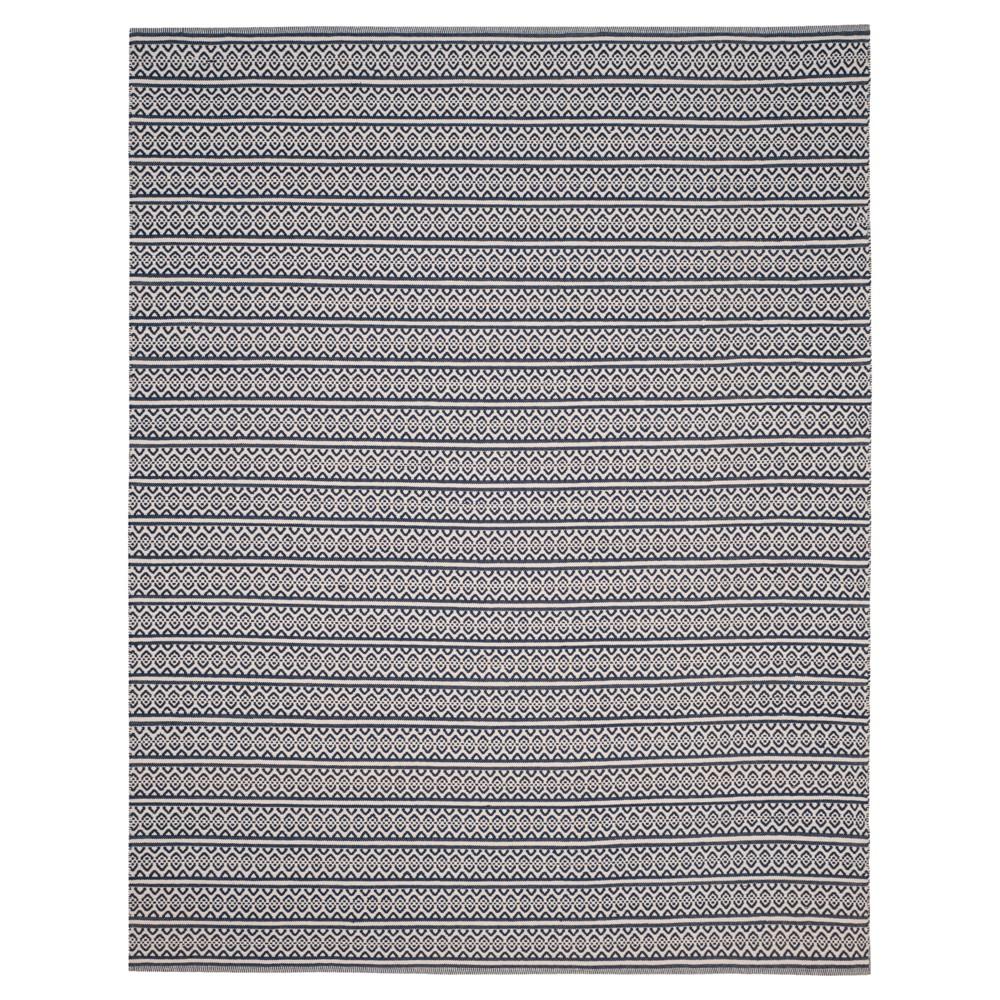Ivory/Navy (Ivory/Blue) Geometric Woven Area Rug - (8'X10') - Safavieh