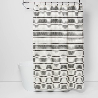 Striped Shower Curtain Black/White - Threshold™