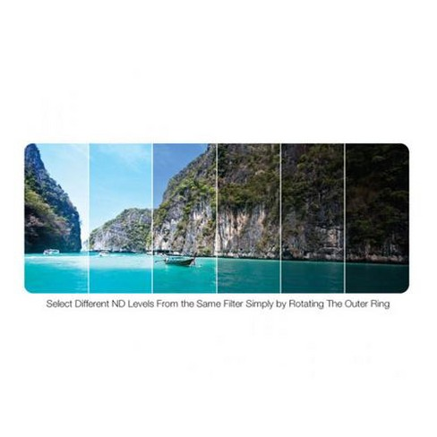 Vivitar 52mm Variable Neutral Density (ND) Filter - 0.3 to 3.0 (1 to 10 stops) - image 1 of 1