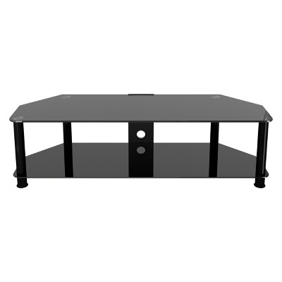AVF Classic Corner Glass TV Stand With Cable Management
