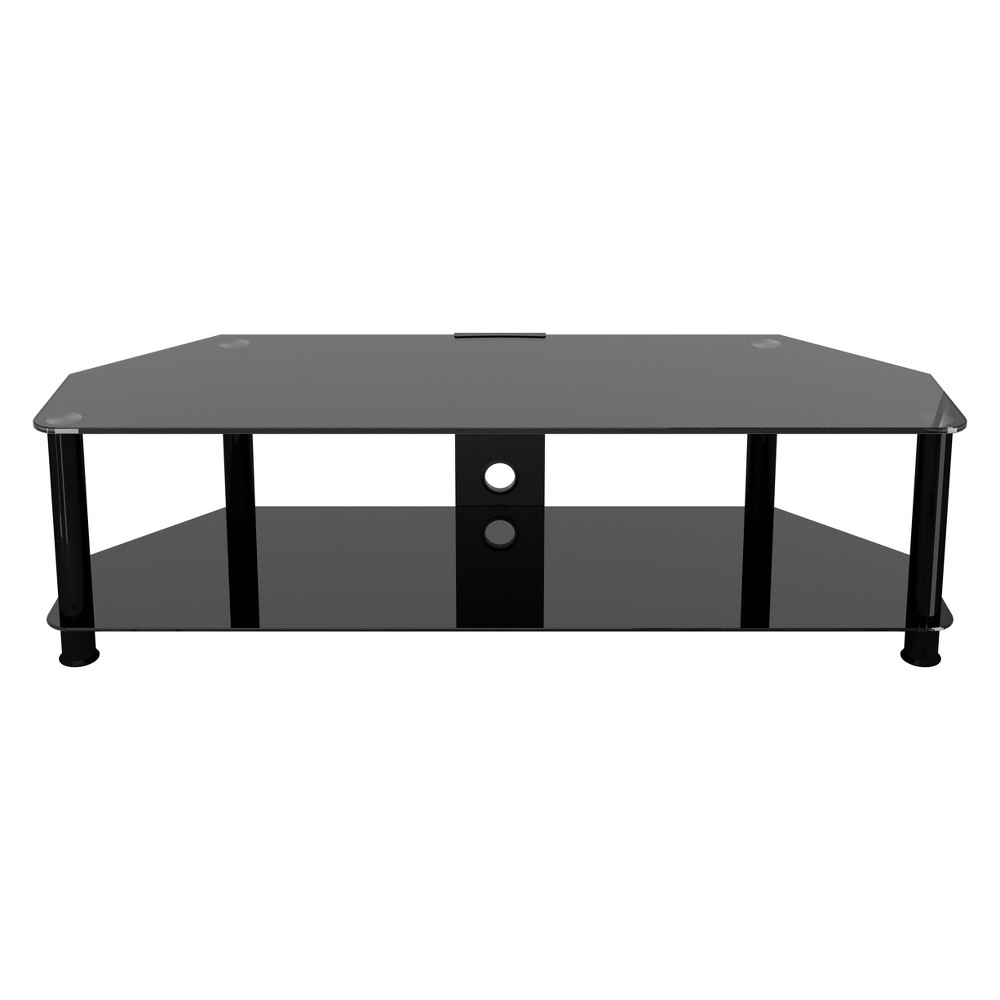 """Image of """"65"""""""" TV Stand with Cable Management - Black"""""""