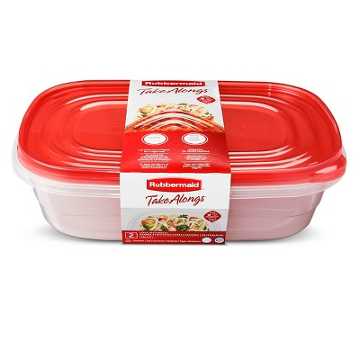 Rubbermaid TakeAlongs Food Storage Container - 1Gal 2pk