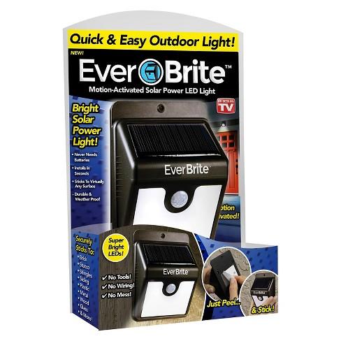 As Seen On Tv Ever Brite Outdoor Solar Led Light Black