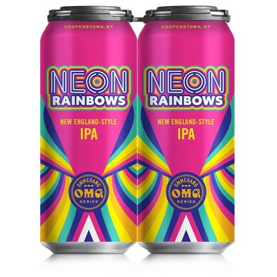 Ommegang Neon Rainbows IPA Beer - 4pk/16 fl oz Cans