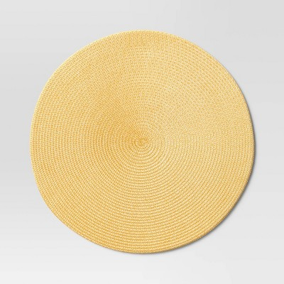 Polyround Charger Placemat Yellow - Threshold™