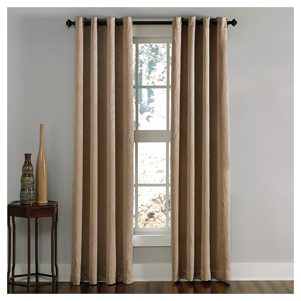 Curtainworks Lenox Room Darkening Curtain Panel - Taupe (Brown) (120)