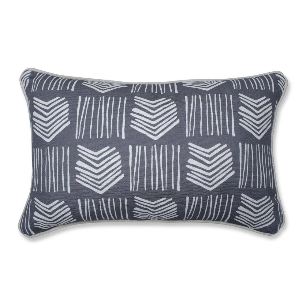 18 5 34 X11 5 34 Graphite Lumbar Throw Pillow Gray Pillow Perfect
