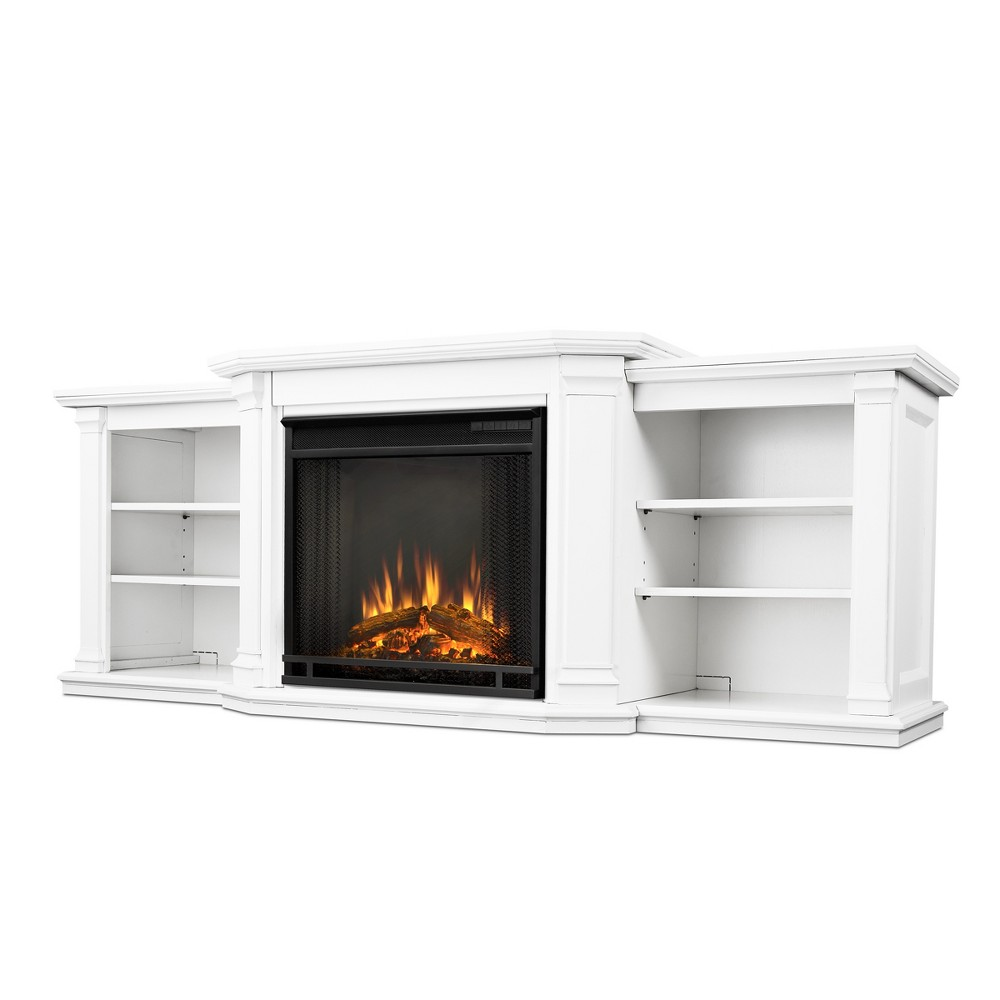 Real Flame - Valmont TV/media Stand Fireplace - White