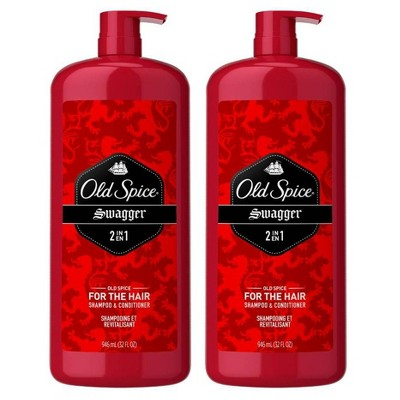 Old Spice Swagger Men's 2-in-1 Shampoo and Conditioner - 32 fl oz Twin Pack