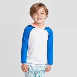 Toddler Boys' Shark Hooded Long Sleeve Rash Guard - Cat & Jack™ Blue