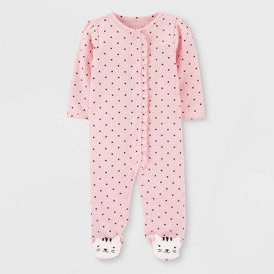 Baby Girls' Dots Thermal Sleep 'N Play - Just One You® made by carter's Pink Newborn