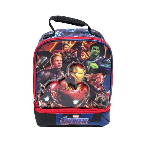 Marvel Avengers Dual Compartment Lunch Bag - Blue - image 1 of 6
