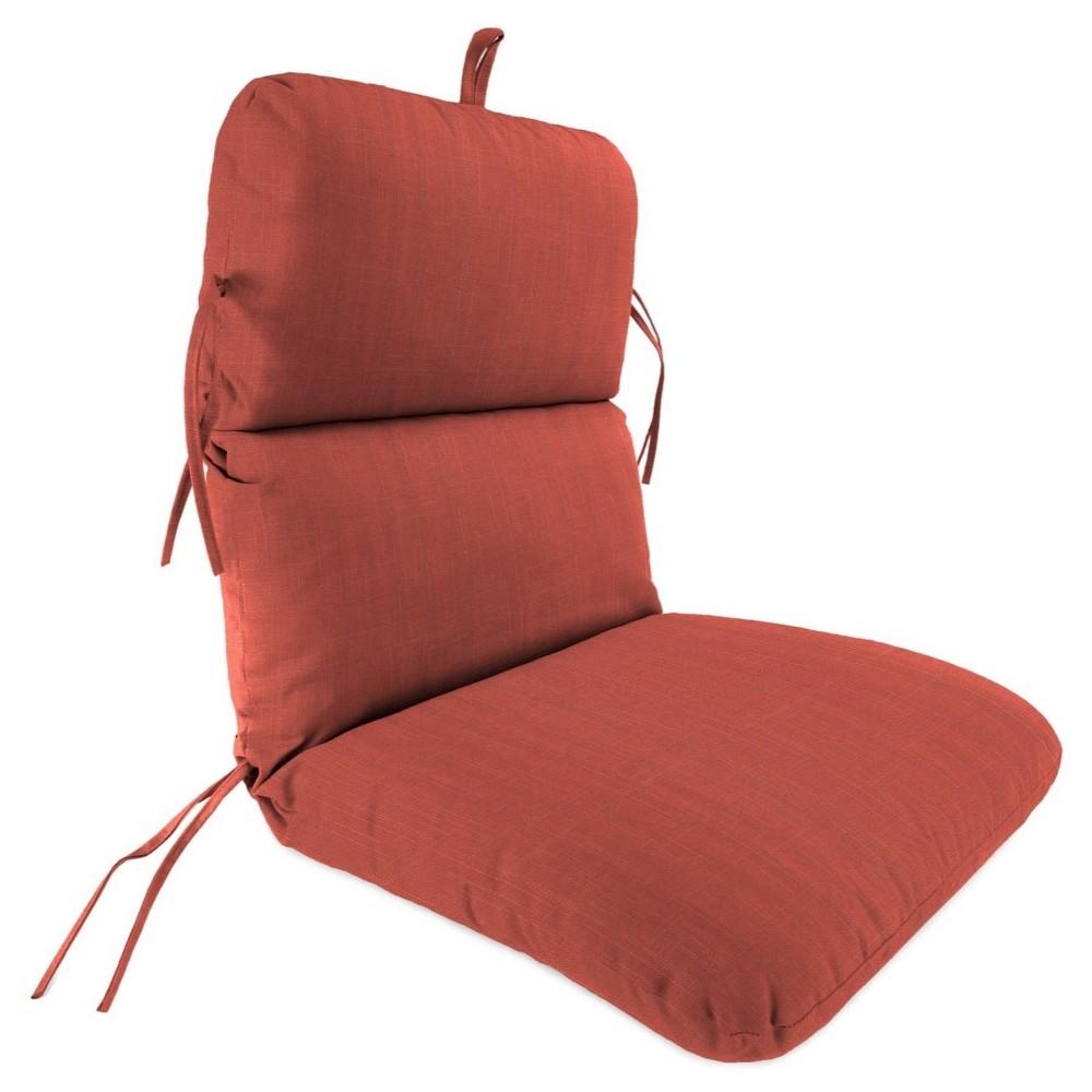 Jordan Knife Edge Dining Chair Cushion - Davinci Salmon