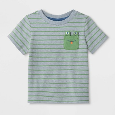 Baby Boys' Frog Pocket T-Shirt - Cat & Jack™ Green 3-6M