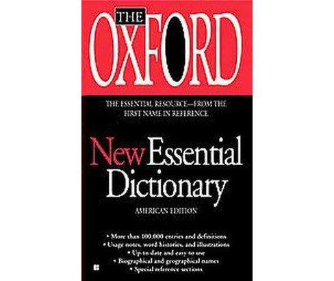 The Oxford New Essential Dictionary (Reissue) (Paperback) - image 1 of 1