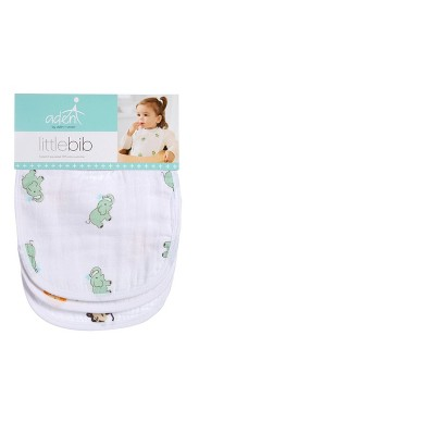 Aden + Anais Animal Print 3pk Bib Set - White