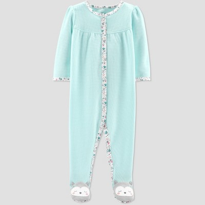 Baby Girls' Thermal Owl Sleep 'N Play - Just One You® made by carter's Blue 3M