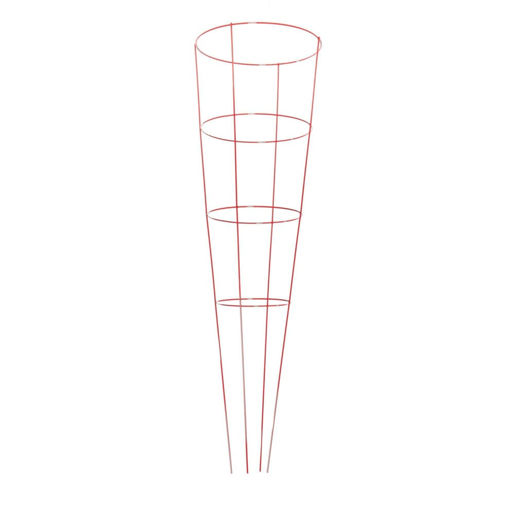 """Image of """"14""""""""x42"""""""" Metal Heavy Duty Plant 5pk - Red - Glamos Wire"""""""