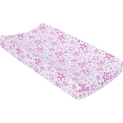 MiracleWare Muslin Changing Pad Cover Stars Orchid