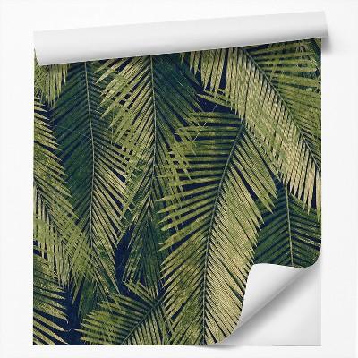 Americanflat Peel & Stick Wallpaper Roll - Green Palm Leaf Wallpaper by DecoWorks
