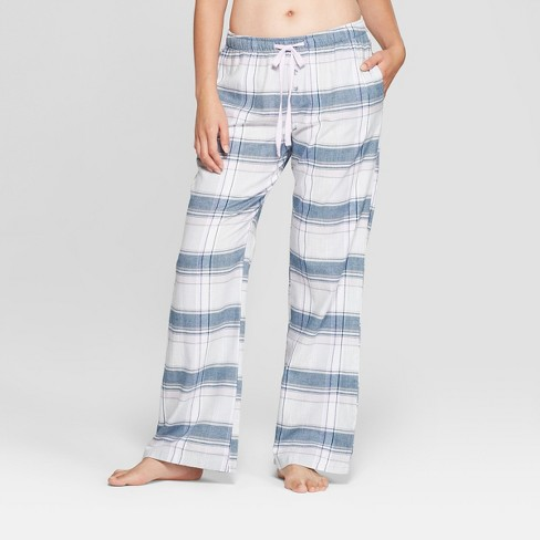 Women's Plaid Flannel Pajama Pants - Gilligan & O'Malley™ Gray - image 1 of 2