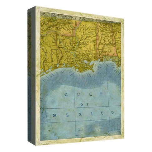 """Gulf Of Mexico Decorative Canvas Wall Art 11""""x14"""" - PTM Images - image 1 of 1"""