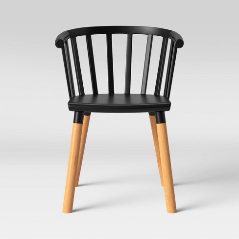Balboa Barrel Back Dining Chair with Wood Jet Black - Project 62™ - image 1 of 4