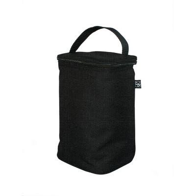 J.L. Childress Two Cool Double Bottle Bag Black Crosshatch 24qt