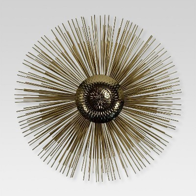 Gold Starburst Decorative Wall Sculpture 18 X 1.4 X 18 - Project 62™