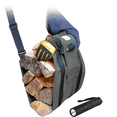 LogOx LOX-8141 WoodOX Sling Ultimate Firewood Kindling and Log Carrier, Green - image 1 of 1