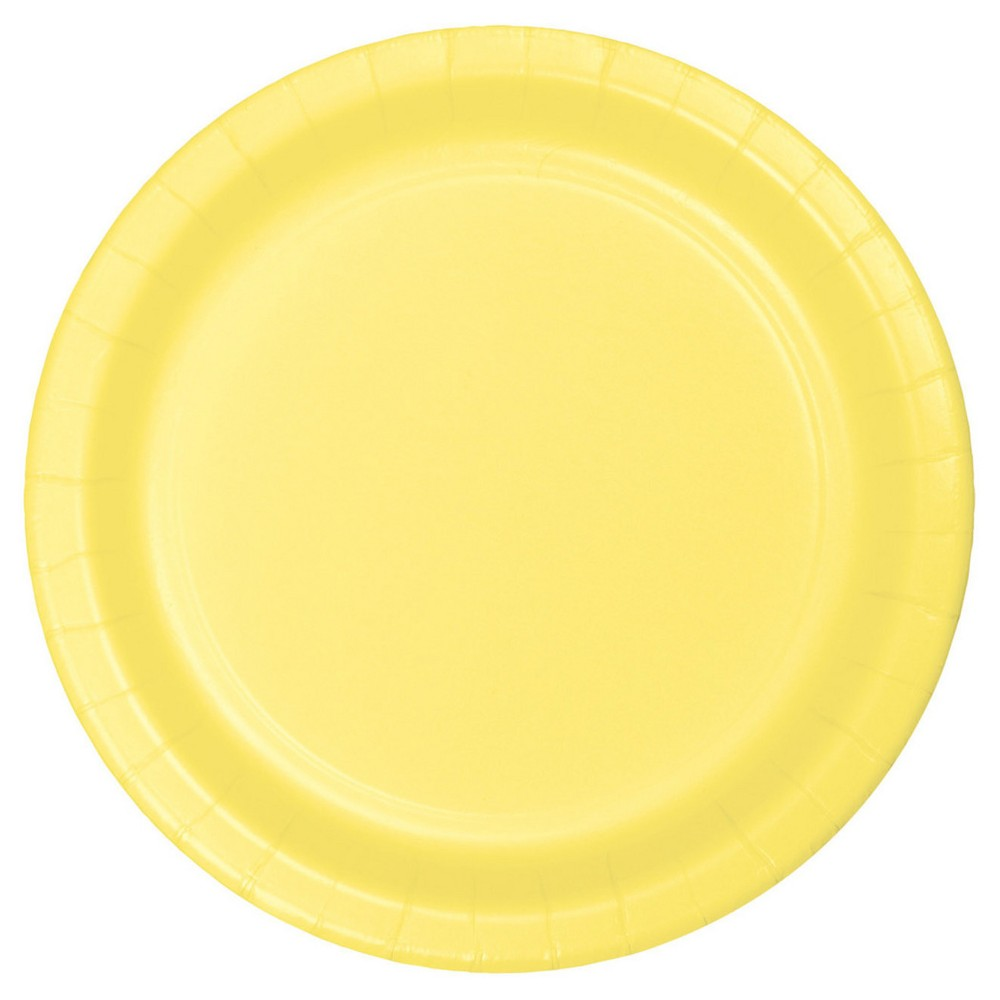 Mimosa Yellow 9 Paper Plates - 24ct Best