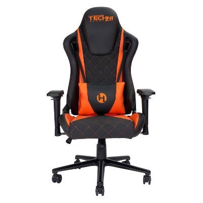Ergonomic Gaming Chair Orange - Techni Sport